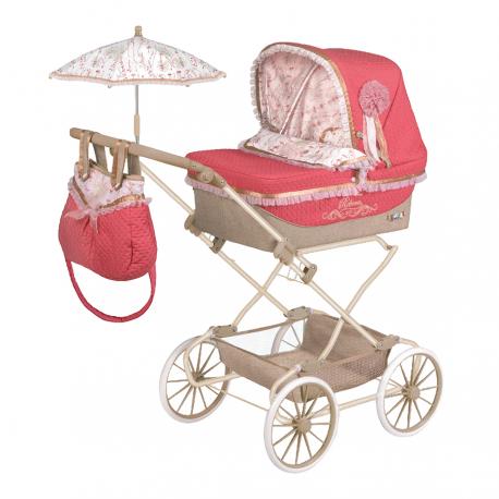 82033 Коляска с сумкой и зонтиком для кукол REBORN серии Мартина, 90 см
