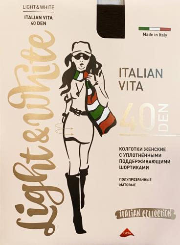 light&White - Italian Vita 40 DEN черный Колготки