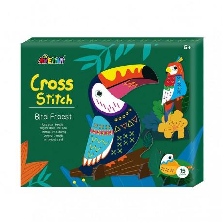 CH1688 Набор для вышивания крестиком. Лесные птицы