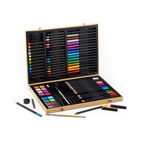 Большой набор: карандаши, фломастеры, краски