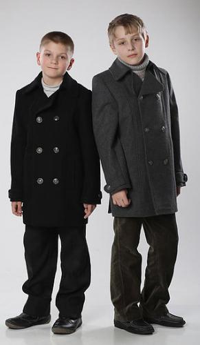 840р.4200р.Пальто для мальчика М271 Бушлат черный
