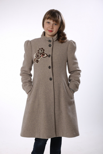 840р.4200р.Пальто для девочки М-397 капучино
