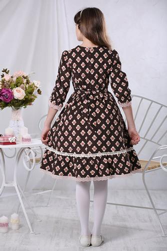 1440р.2400р.Платье МТ 17-1 вельвет розочки