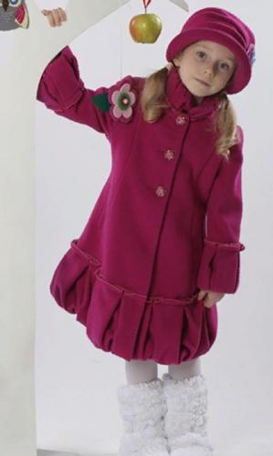 760р.3800р.Пальто детское для девочки Герда М-267фуксия