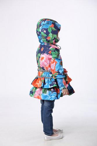 800р.1600р.Куртка детская для девочки М425 Синие цветы