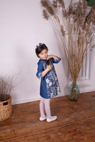 1360р.1700р.Платье МТ 18-42 джинс ажур
