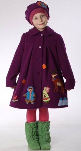 760р.3800р.Пальто детское для девочки Северянка М-269-1