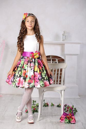 1015р.1450р.Платье для девочки М-257 Милана бабочки