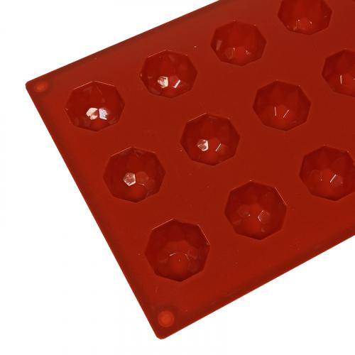 Форма силиконовая Бриллиант d=35 мм, h=20 мм, 18 ячеек