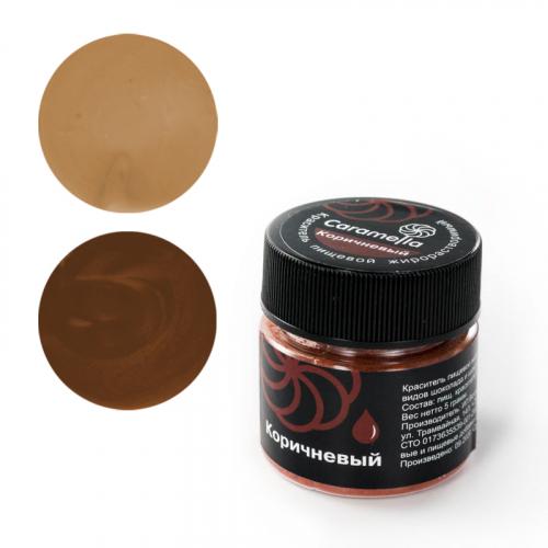 Краситель сухой жирорастворимый Caramella Коричневый 5 гр