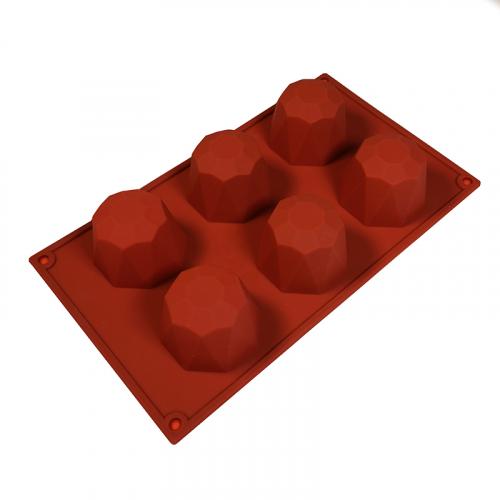 Силиконовая форма Бриллиант d=68 мм h=45 мм, 6 ячеек