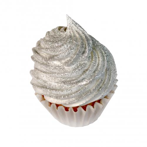 Глиттер съедобный пищевой Серебро Caramella, 5 гр