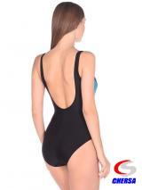 Купальник для плавания женский совместный на чашках * (Артикул: 2138 )