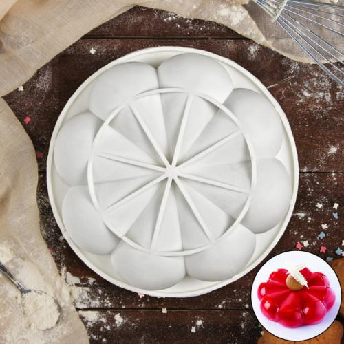 Форма для муссовых десертов и выпечки «Бонжур», 15×5 см, цвет белый