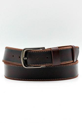 Ремень #268057Т.коричневый с переливами черного