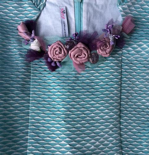1170р.1950р.платье для девочки Ванесса Ж17-2 жаккард бирюза