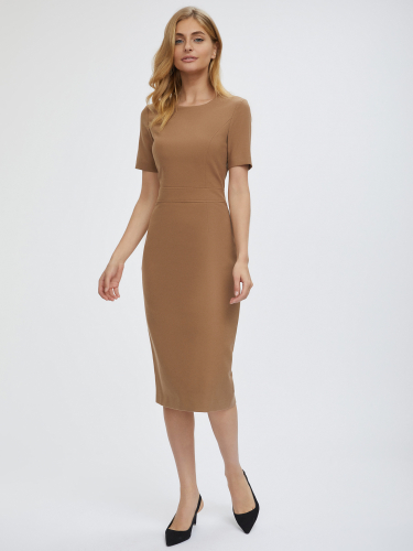 Платье-футляр из плотного трикотажа