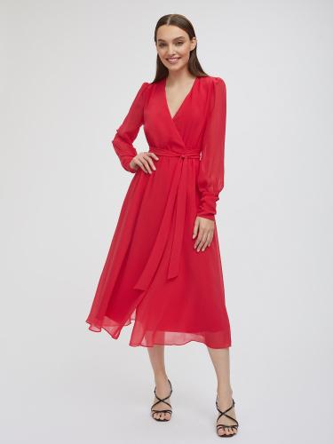 Платье миди на запах