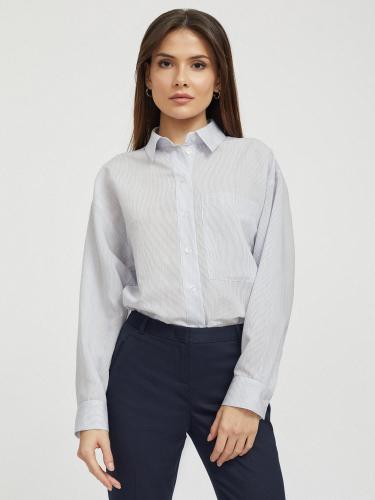 Свободная рубашка с карманом