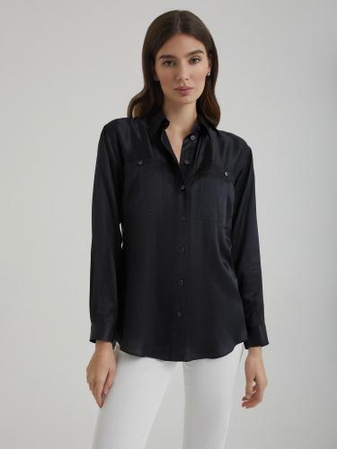 Рубашка из смесового шелка