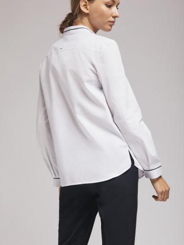 Рубашка с контрастным кантом