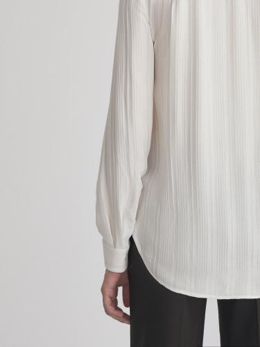 Блуза из жатой ткани