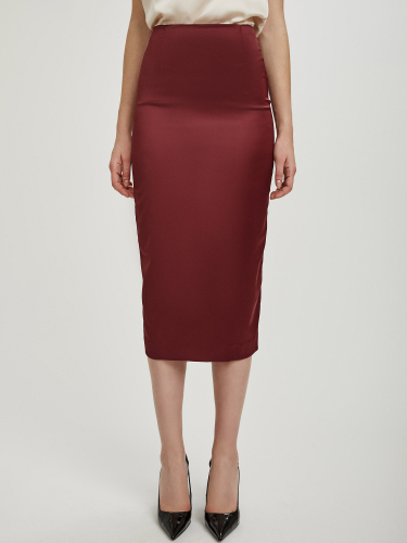 Атласная юбка-карандаш