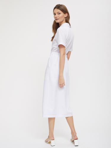 Двубортное платье на резинке