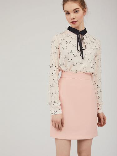 Мини-юбка с фигурным поясом