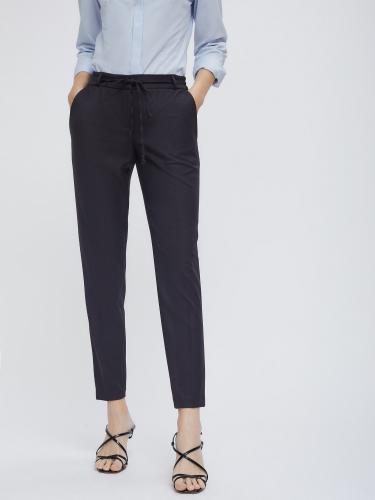 Прямые брюки в гусиную лапку