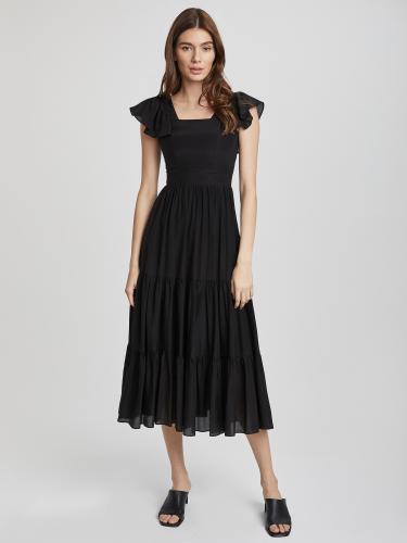 Приталенное платье на бретелях