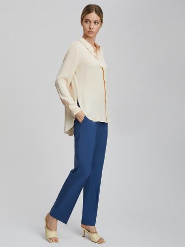 Удлиненная блуза с планкой