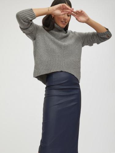 Зауженная юбка из искусственной кожи