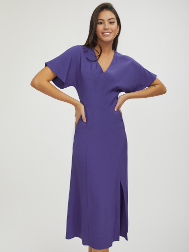 Платье миди с разрезом