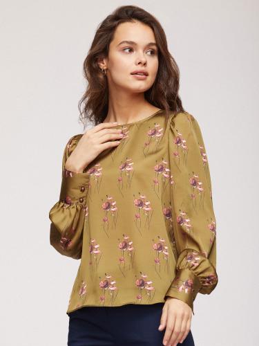 Струящаяся блуза с принтом