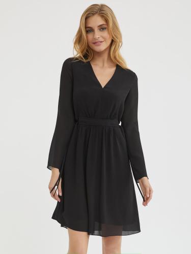 Струящееся платье с завязками