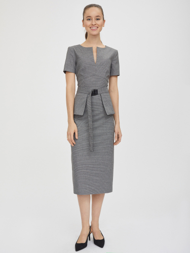 Платье с двусторонней баской