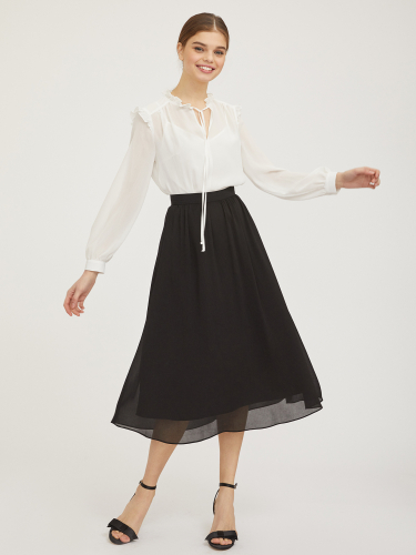 Струящаяся юбка на талии
