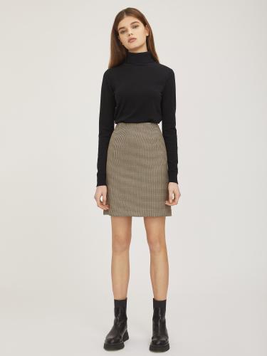 Короткая юбка в гусиную лапку