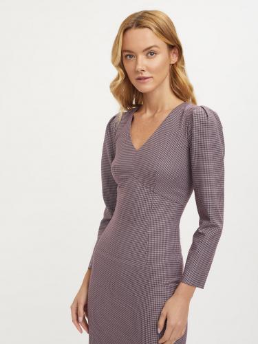 Платье мини с объемными рукавами