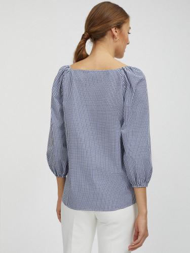 Свободная блуза в клетку виши