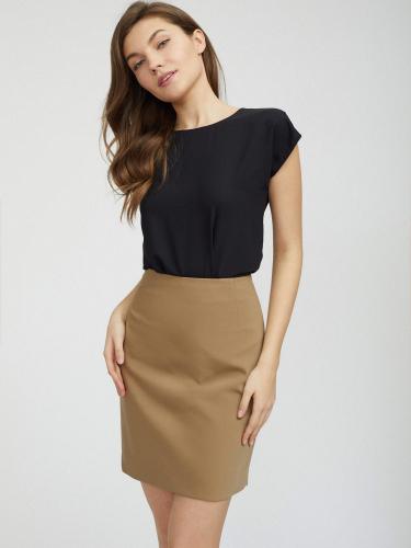Короткая юбка из плотного хлопка