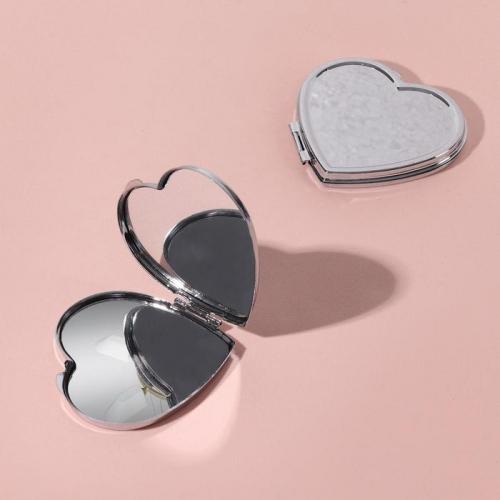 Зеркало складное, цвет серебряный
