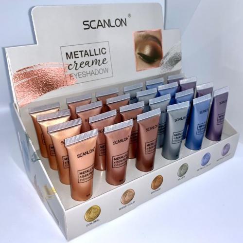 SCANLON/LE801/Тени жидкие металлик 01 golden туба, 5 мл