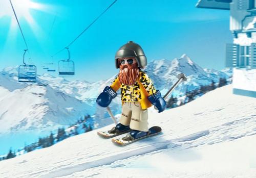 1 шт. доступно к заказу/Зимние виды спорта: Лыжник с палками