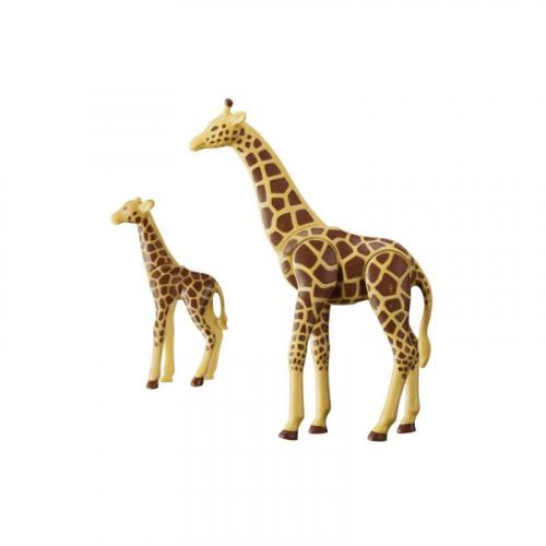 1 шт. доступно к заказу/Зоопарк: Жираф со своим детенышем жирафом