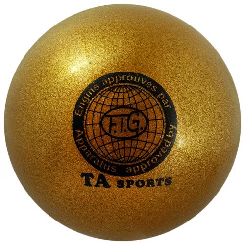 Мяч для гимнастики 18,5 см, 420 г, блеск, цвет золотой