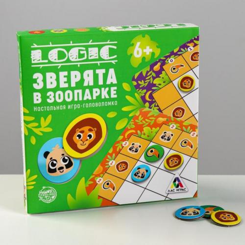 Настольная игра-головоломка «Зверята в зоопарке»