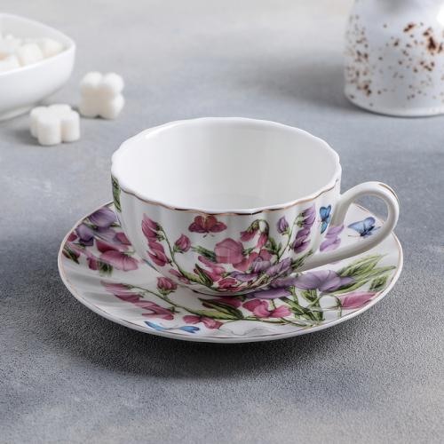 Чайная пара «Колокольчики», чашка 250 мл, блюдце