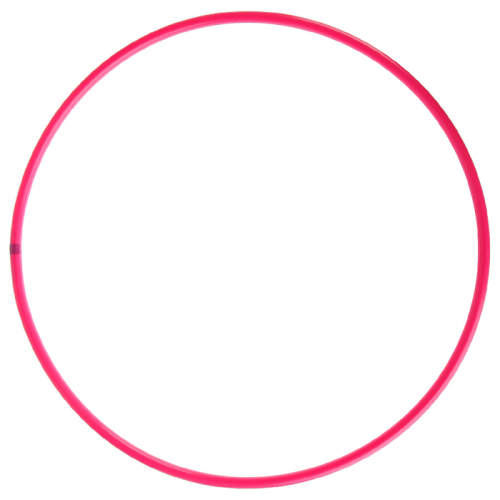 Обруч профессиональный для художественной гимнастики, дуга 18 мм, d=90 см, цвет малиновый
